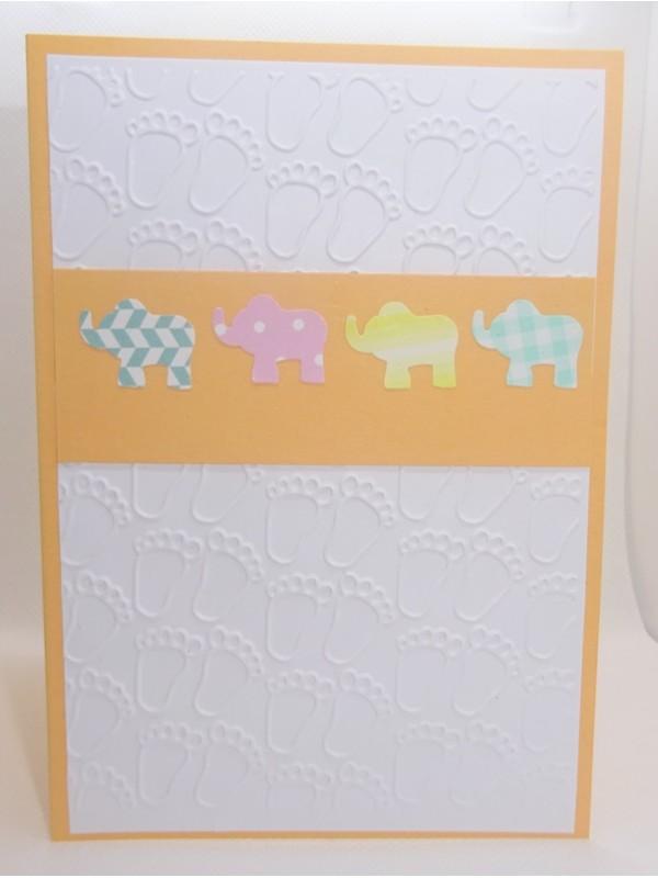 Felicitare pentru bebe elefanti  F1505